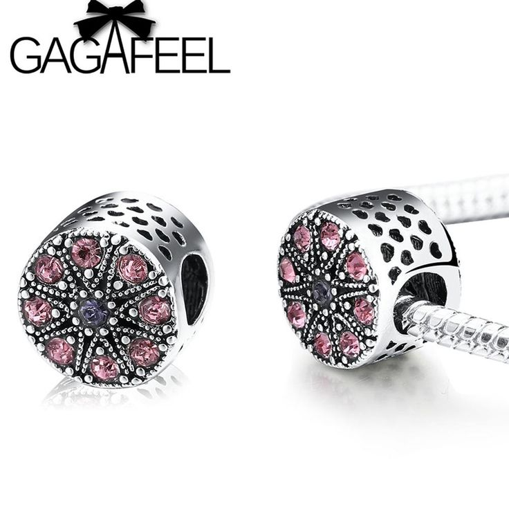 GAGAFEEL DIY Crystal Hollow Beads Fit Pandora Bracelet Necklace Bangle Big Hole Openwork Charm Beads For Jewelry Making