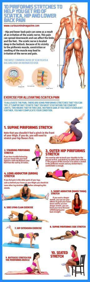 The sciatic nerve is located deep in the buttock. Because of its vicinity to the piriformis muscle, constriction or swelling of the muscle may lead to irritation of the nerve and pain. #HipFlexorsTips
