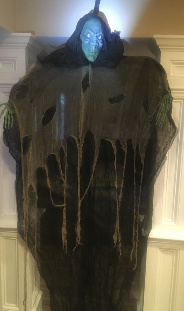 New Scary Huge 7 Foot Creepy Witch Halloween Haunted House Prop Decor