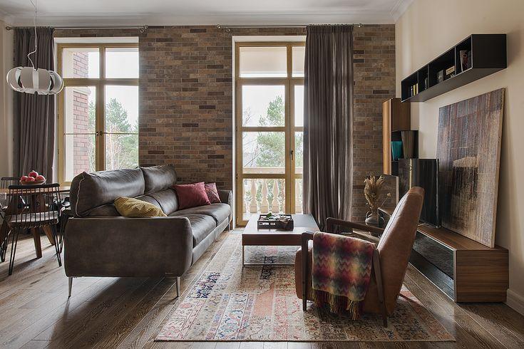 Интерьер гостиной из проекта Трехкомнатная квартира в современном городском стиле/ Автор Насонова Анна
