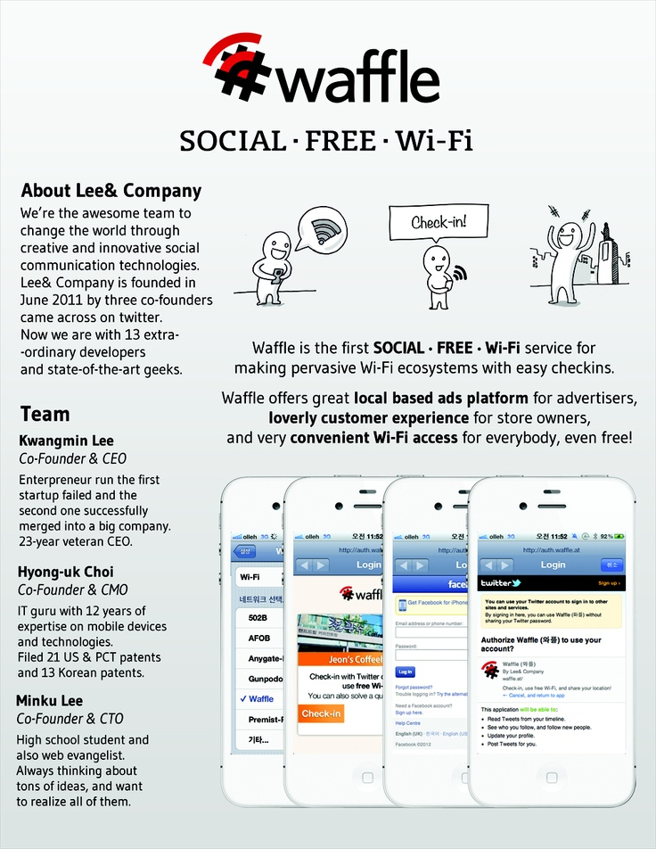 Waffle, the social free Wi-Fi in the world.