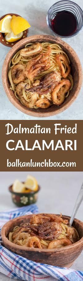 fried calamari | Dalmatian calamari | how to make calamari | calamari recipe | seafood recipe | breaded and baked calamari recipe | homemade calamari | domaće lignje | dalmatinske lignje | recept za lignje | pržene lignje | brze lignje