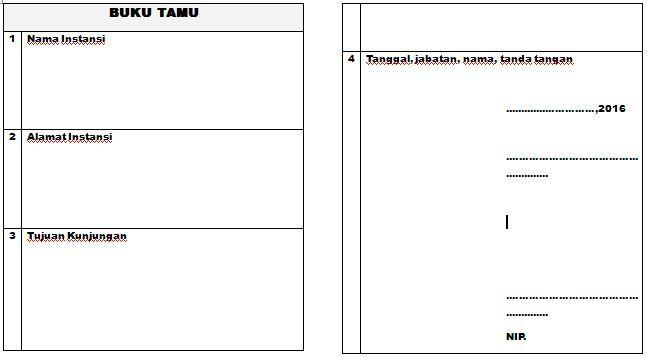 [Dokumen] Contoh Format Buku Tamu PAUD-TK-RA Tahun Ajaran 2016-2017 dengan Microsoft Word [.doc]