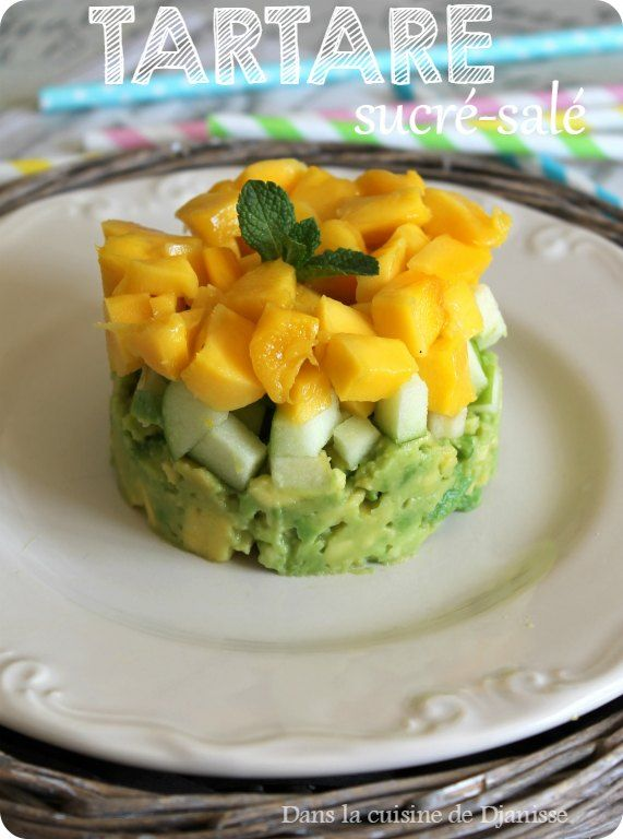 Un tartare, bien frais, aux fruits pour en faire une délicieuse et divine entrée sucrée-salée