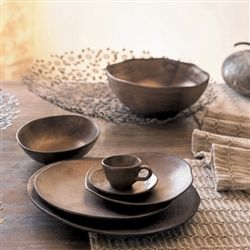 Brown & Gold Plateware Set