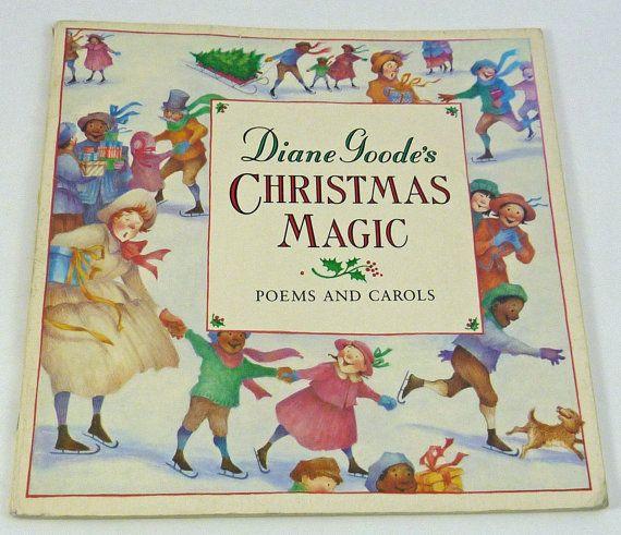 Christmas Magic Poems And Carols Vintage Book