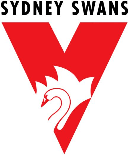 Red: Representation of love, power and passion for Sydney Swans as a team in the AFL.