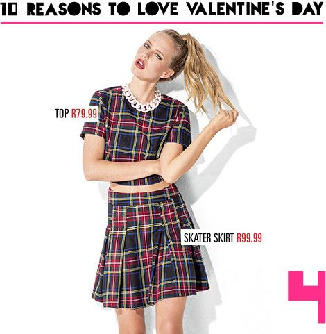 Reason 4: A cheeky check is your perfect match!  Shop our V-Day edit in-store and online now at www.mrp.com