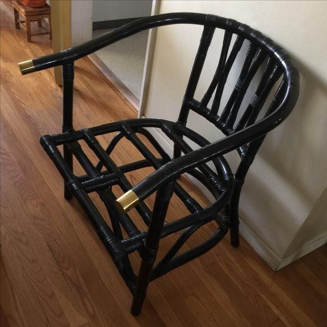 FOR VANITY? (needs cushion, obv) Image of Asian Chinoiserie Bamboo Chair