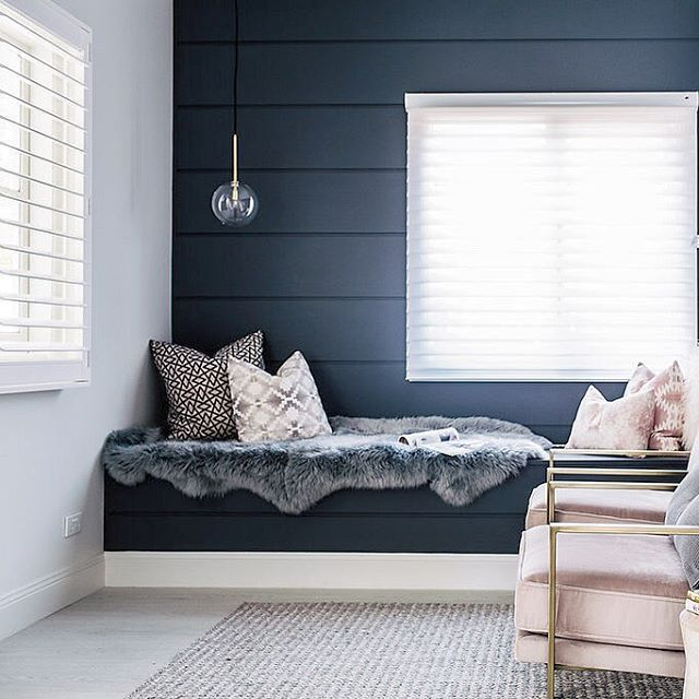 """As you all know I'm obsessed light... Every house we renovate my number one goal is to bring light back into what is usually a really dark space! Erin on the other hand loves a pitch black bedroom to sleep in... She also loves privacy! #whowouldofthought So when we found these """"Silhouette"""" window coverings from @luxaflexaus it was a win win for both of us! 👍🏼 I get my gorgeous light glow and the shear fresh look I love... And Erin well she gets to live like a hermit! 😜…"""