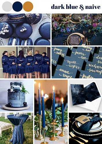 Dark Blue and Navy Wedding Theme really suitable for the wedding during winter