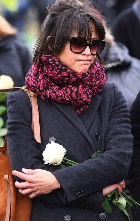 Sophie Marceau et son fils Vincent le lundi 22 février 2016 aux obsèques d'Andrzej Zulawski