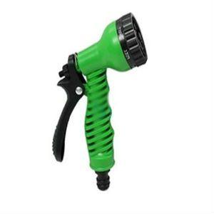 Pistolet d'arrosage a à clipser Multifonction 7 jets pour tuyau extensible hose avec un adaptateur Universel Grand Débit style Gardena