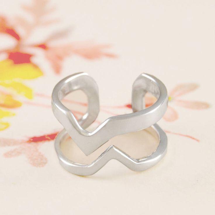Anillo - anillo - anillo único - anillo de plata 925 - anillos - anillo Unisex - diseño - moderno anillo de plata esterlina, anillo abierto, anillo V de OtisJaxon en Etsy https://www.etsy.com/mx/listing/238893477/anillo-anillo-anillo-unico-anillo-de
