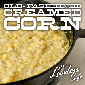 Super-simple and delicious recipe from the Loveless Cafe. Instead of thickening with flour or cornstarch, just puree some of the corn!