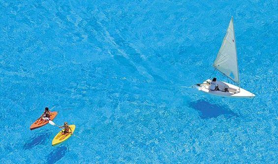 The BIGGEST Swimming pool in the world San Alfonso del Mar in the Chilean city Algarobo,