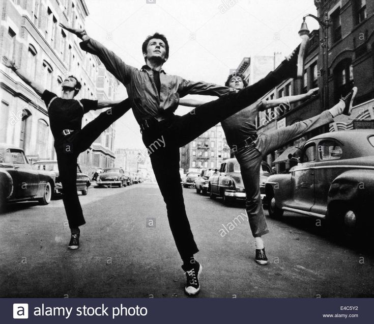 "George Chakiris (center), On-set Of The Film, ""west Side Story"", 1961 Stock Photo, Royalty Free Image: 71568198 - Alamy"