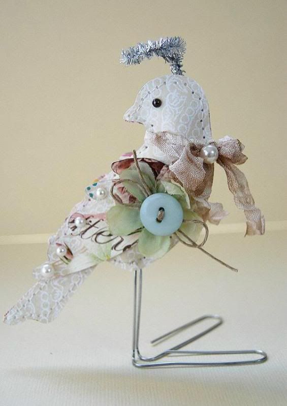 very brief instructions for making these paper birds...some paper, some stitching, some stuffing, some glue...very pretty