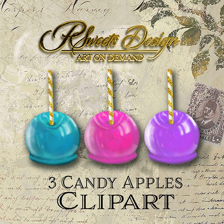 3 candy apple clipart png svg jpg etsy candy apples