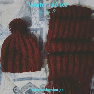 Lia B. Creations: Winter red set