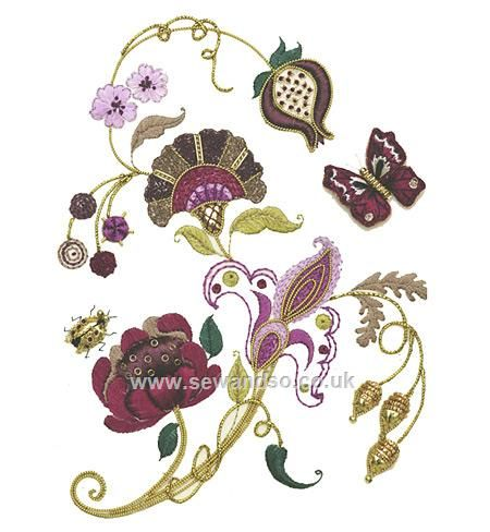 Buy Jacobean Fantasy Embroidery Kit Online at www.sewandso.co.uk