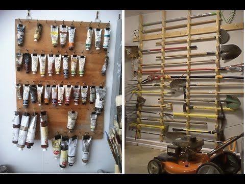 Идеи для  хранения в гараже Обустройство гаража внутри - YouTube