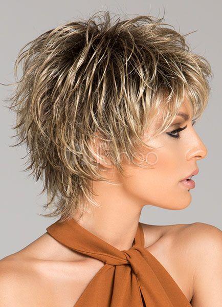 Perruque Synthetique 2019 Perruques courtes pour femmes Vague profonde Bouclés …