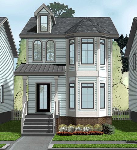 Plan 62557dj Narrow Lot Townhouse Townhouse Victorian