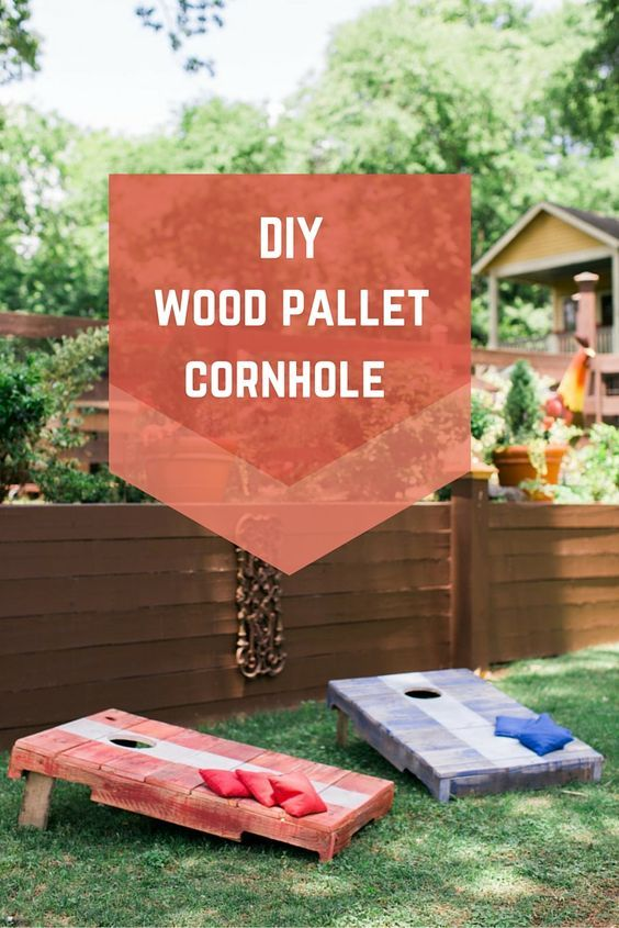 DIY Pallet Cornhole...these are the BEST Backyard Game Ideas for Kids & Adults!
