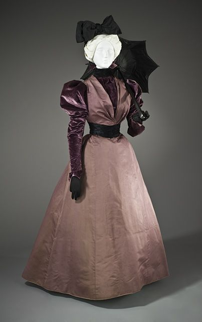 House of Rouff | c. 1897. LACMA Costume Collection..I saw this gorgeous deep purple dress in perfect condition.