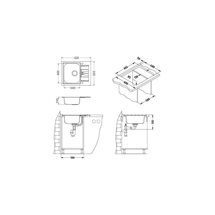 CHIUVETA DE BUCATARIE ALVEUS COLECTIA LINE MAXIM 60 F, MONTAJ LA NIVELUL BLATULUI DIN INOX,SIFON POP-UP - Iak