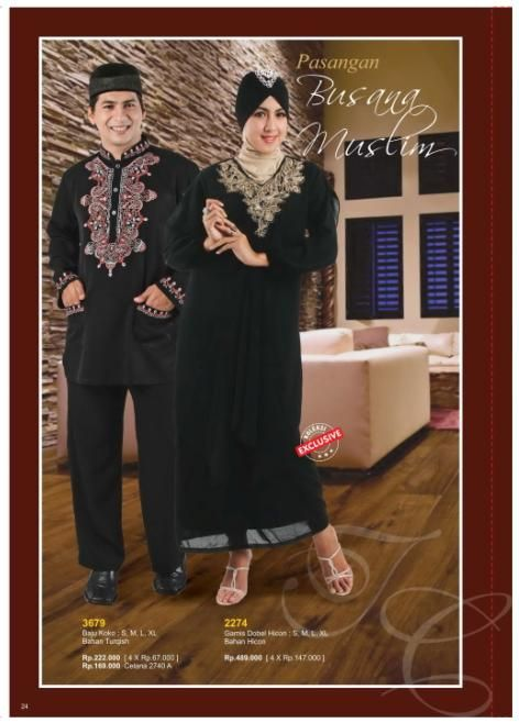 Pasangan Busana Muslim Berkualitas By: Toyusin Collection Yukk di Order di www.toyusin.co.id SMS 087878968310 Telp. 021-6512884/85 Happy Shopping :D