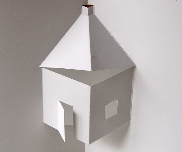 Free template to make this cool simple house pop-up