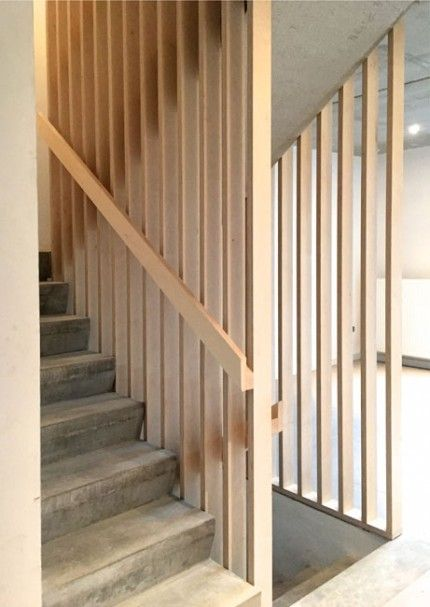An example where handrail is closer in than balusters