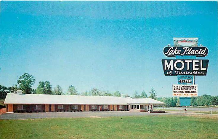 No longer extant - Airport Parking Structure on Wilkinson Blvd. Charlotte, North Carolina, Lake Placid Motel, Dexter Press No 23715B