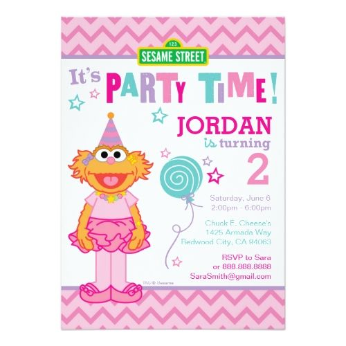 Sesame Street Birthday Zoe Birthday Card