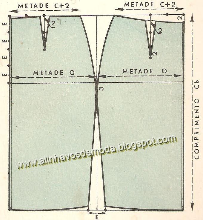 Alinhavos de Moda - Mania de inventar moda.: Molde básico - Saia simples