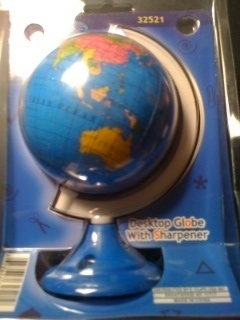 Desktop EARTH GLOBE with PENCIL SHARPENER New in Package @C99Sale #eBay