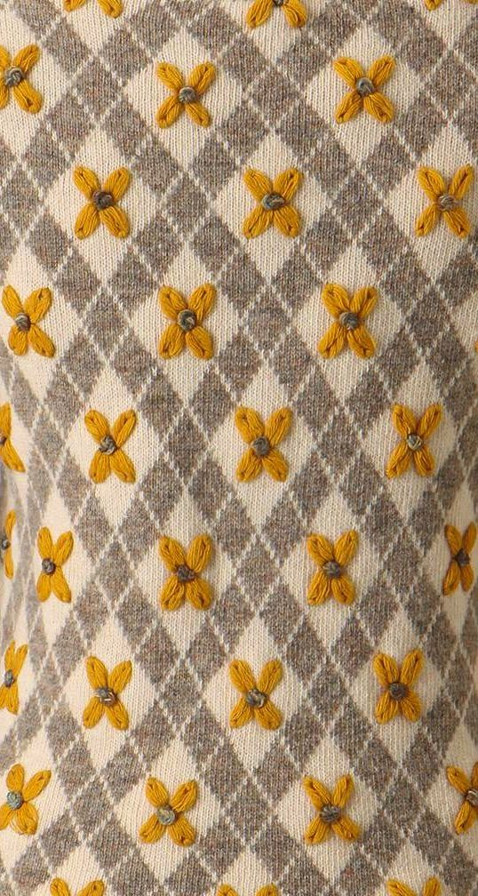 yellow argyle  anthropologie.com