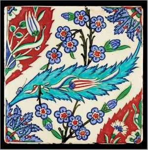 Turkish Iznik tile