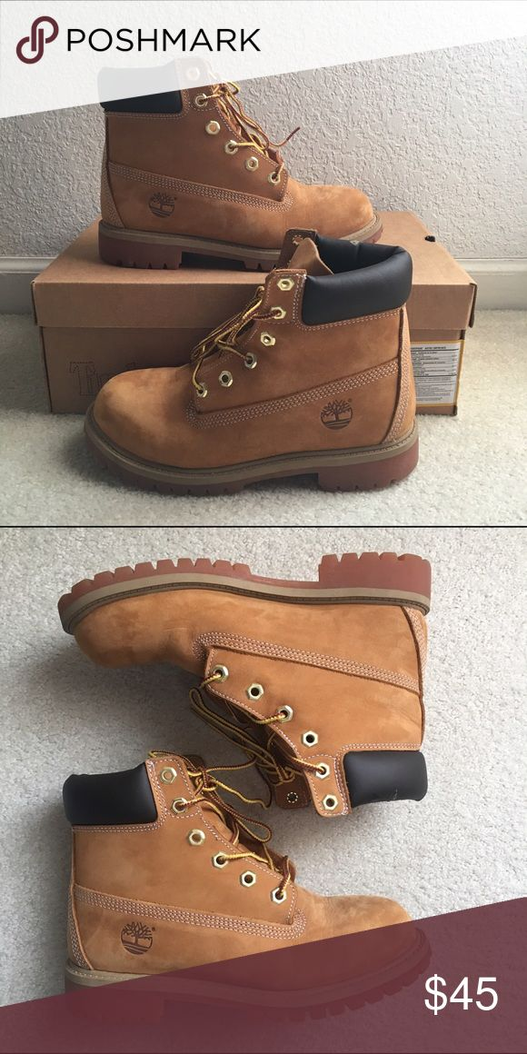Timberland Hiking Boots (Kids size 4.5) Worn only a few times. Still in great condition. :) Kids size 4.5 which is equivalent to Women's 6.5. Timberland Shoes Lace Up Boots