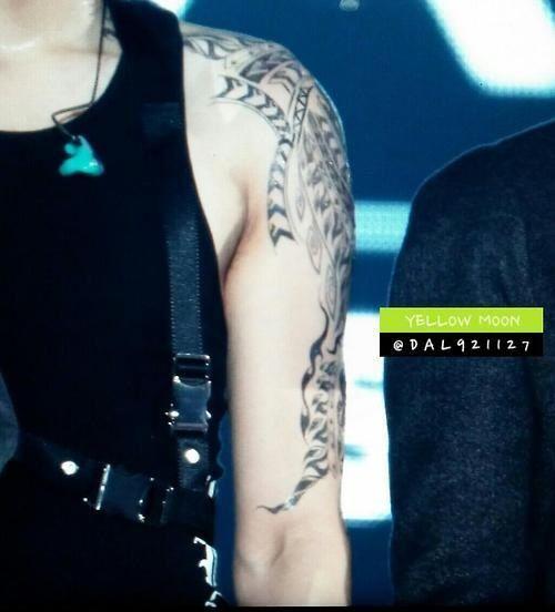 Tatto's chanyeol ooooo