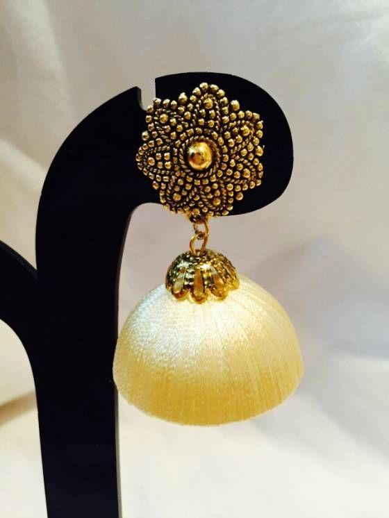 Shopo.in : Buy Silk Thread Jhumkas online at best price in Mumbai, India