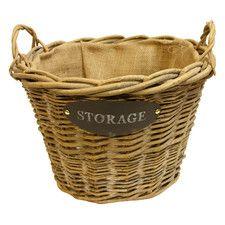 Log Fireplace Storage Basket