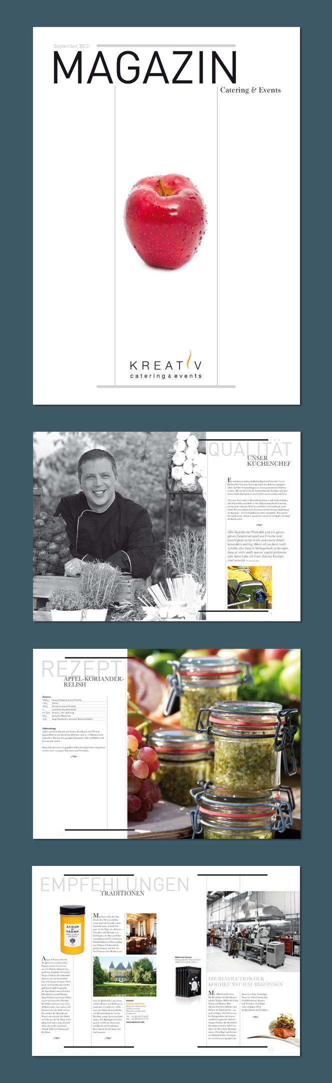 Kreativ Catering, Frankfurt a.M. – Kundenmagazin