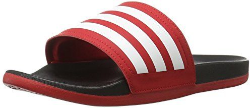 adidas Performance Women's Adilette CF Ultra Stripes C W Athletic Sandal, Scarlet/White/Black, 10 M US >>> Be sure to check out this awesome product.