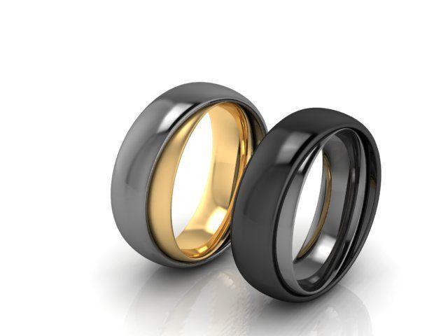 Eheringe-Red Dot Design-Ring im Ring-individuell kombinierbar