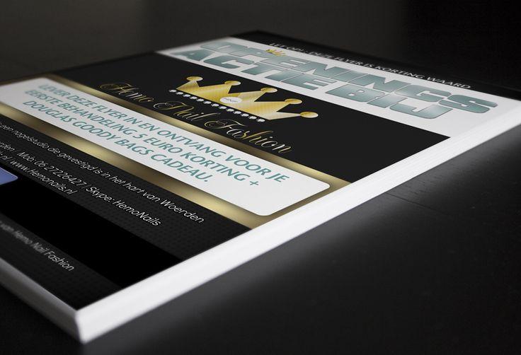 Hemo Nails is gespecialiseerd in het prachtig bewerken van nagels. Voor Hemo Nails hebben wij voorzien van een nieuwe identiteit. Uitgevoerde diensten zijn: Logo ontwerp, Huisstijl ontwerp, Visitekaartje ontwerp, Flyer en prijslijst ontwerp en uiteraard hebben wij de ontwerpen zelf mogen drukken.