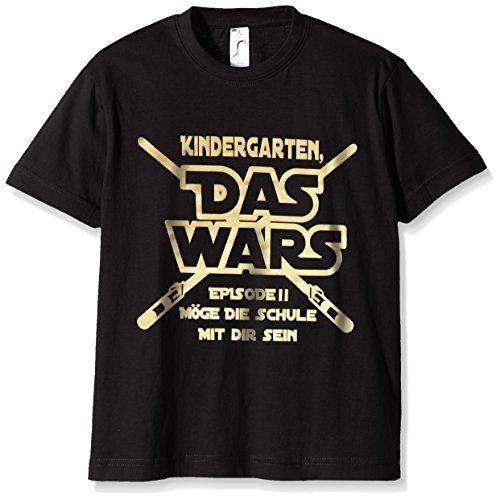 Coole-Fun-T-Shirts Jungen T-Shirt KINDERGARTEN DAS WARS