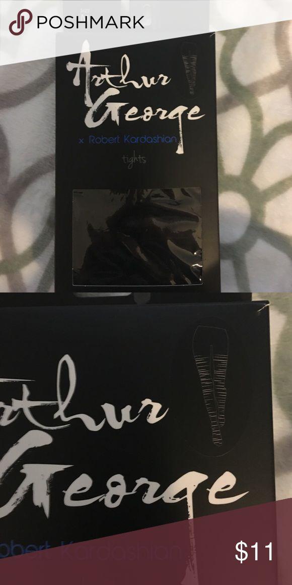 NWT Arthur George x Robert Kardashian Tights New With Tag, Razor Cut Style, Black Arthur George Accessories Hosiery & Socks